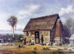 negro cabin by a palm tree by william aiken walker posters