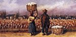 negro man and woman in cotton field with cotton baskets ii by william aiken walker posters