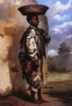william aiken walker negro youth with basket on head cuba paintings