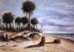 palm trees on the beach at fort walton by william aiken walker painting