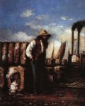 william aiken walker white man with cotton bales on docks posters