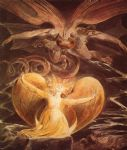 the great red dragon and the woman clothed with sun by william blake painting