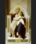 the baby jesus and saint john the baptist by william bouguereau painting