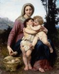 the holy family by william bouguereau painting