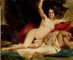 female nude in a landscape by william etty painting-78776