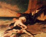 hero and leander by william etty painting-79466