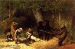 making game of the hunter by william holbrook beard painting