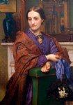 william holman hunt portrait of fanny holman hunt painting