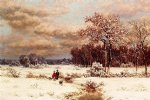 william mason brown children in a snowy landscape paintings