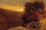 october on great otter creek vermont by william mason brown painting