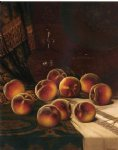 still life with peaches by william mason brown painting