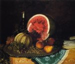 william mason brown still life with watermelon painting 22926