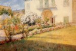 a florentine villa by william merritt chase painting