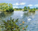 a long island lake by william merritt chase painting
