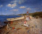 a sunny day at shinnecock bay by william merritt chase painting