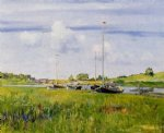 at the boat landing by william merritt chase painting