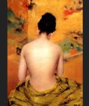 nude oil paintings - back of a nude by william merritt chase
