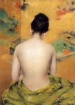 back of a nude ii by william merritt chase painting