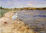 beach scene by william merritt chase painting