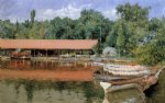 boat house prospect park by william merritt chase painting