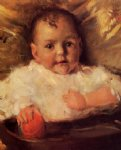 bobbie a portrait sketch by william merritt chase painting