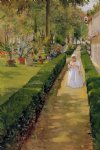 child on a garden walk by william merritt chase painting