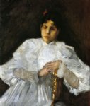 william merritt chase girl in white ii painting