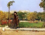william merritt chase in the park paris painting-22607