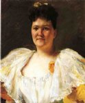 portrait of a woman by william merritt chase painting
