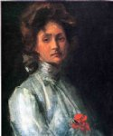 portrait of a young woman by william merritt chase painting