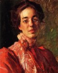 portrait paintings - portrait of elizabeth betsy fisher by william merritt chase