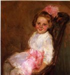 portrait paintings - portrait of helen daughter of the artist by william merritt chase