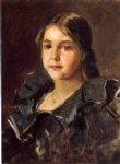portrait paintings - portrait of helen velasquez chase by william merritt chase