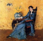william merritt chase portrait of miss dora wheeler painting 22689