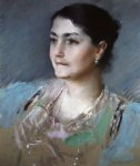 william merritt chase portrait of mrs. william chase painting 22697