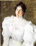 portrait paintings - portrait of virginia gerson ii by william merritt chase