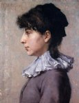 portrait paintings - portrait of virginia gerson by william merritt chase
