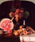 william merritt chase still life with watermelon painting