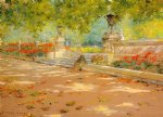 terrace prospect park by william merritt chase painting