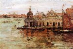 william merritt chase venice view of the navy arsenal paintings: 22838