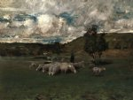 view near polling by william merritt chase painting