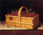 a basket of catawba grapes by william michael harnett paintings
