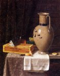 cigar box pitcher and new york world by william michael harnett paintings