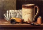 his mug and his pipe by william michael harnett paintings