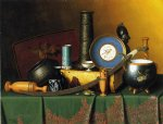william michael harnett still life with bric painting