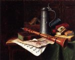 william michael harnett still life with clarinet painting
