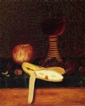 still life paintings - still life with goblet fruit and nuts by william michael harnett