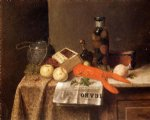 william michael harnett still life with le figaro painting