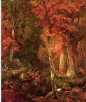 william trost richards forest interior in autumn painting