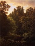 william trost richards forest pool painting